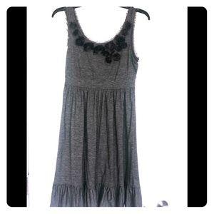 Candies Dark Grey Ruffle Tank Dress